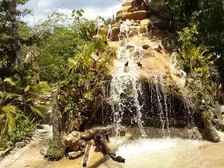 Capanne e stanze con piscina naturale nella selva, Tulum