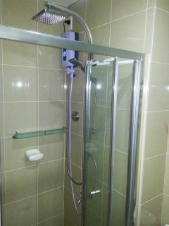 Rainshower and Telephone shower with water heater