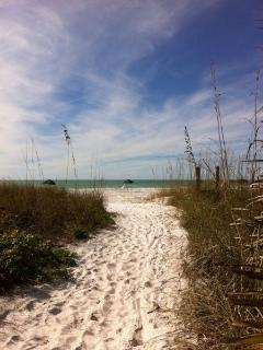 Soft, White-Sand Beach Path to Paradise!