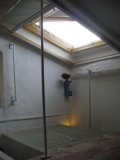 lucernario apribile sull'attic