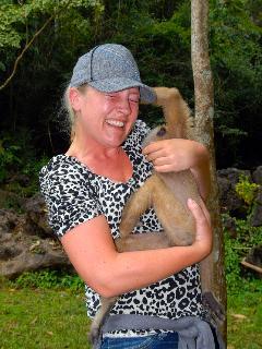 Monkey visit