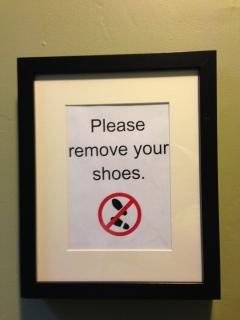 Yes, I request no shoes in the apartment
