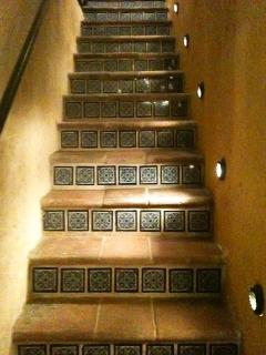 These mexican stairs take you to Casa Mirador in the first floor.
