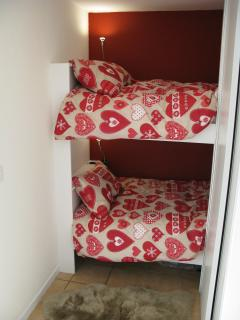 Cosy bunkbeds (there is a ladder for access to the top bunk - not shown here)