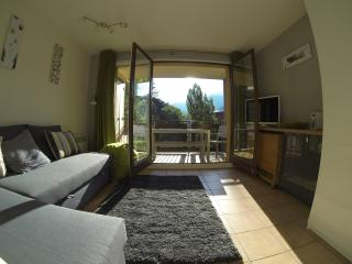 Light and comfortable lounge with 32' TV/DVD and views of the mountains