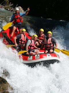 White water rafting during the warmer months!