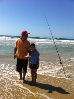 Fishing on Coolum Beach