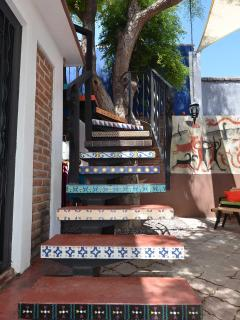 Stairs to Casita bedroom