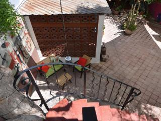 Casita patio viewed from above