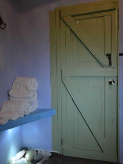 Main house  bathroom door to second bedroom