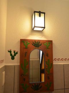 Casita studio bathroom mirror
