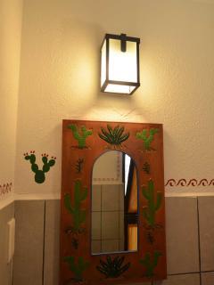 Casita studio bathroom mirror