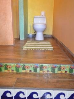 Casita bedroom bathroom entrance