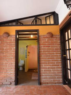 Main house bathroom entrance from patio