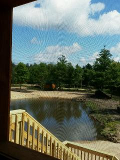 View from porch - beach and Dovey Pond below.