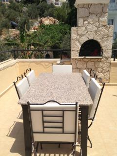 Roof terrace BBQ area