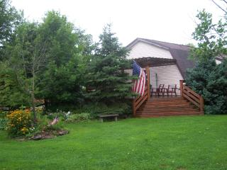 Back entrance and deck of Lodge house