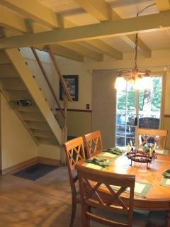 Dining Room with stairs to second floor.