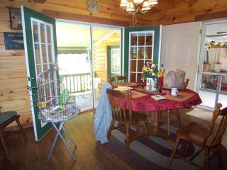 dining area , french doors opening up to side porch