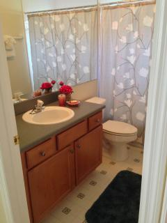 Bathroom is the en-suite for the second master bedroom
