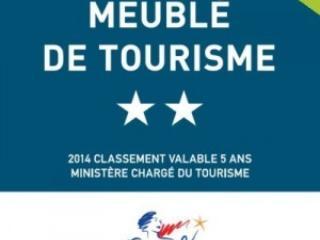 LOGEMENT AYANT RECU L'AGREMENT MEUBLE DE TOURISME 2 ETOILES