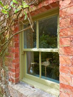 Rock Cottage's original wooden sash windows have been renovated