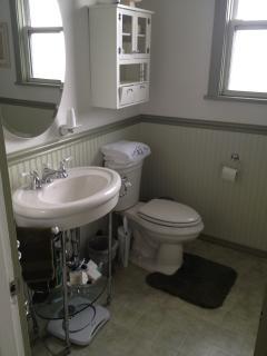 Main Floor Bathroom with shower, washer/dryer