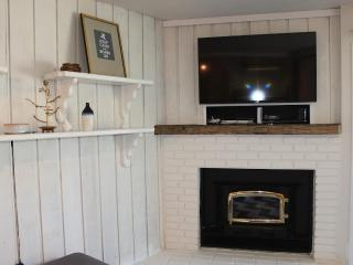 48' Smart TV with DVD player and Wii game system; Wood burning fireplace with unlimited firewood