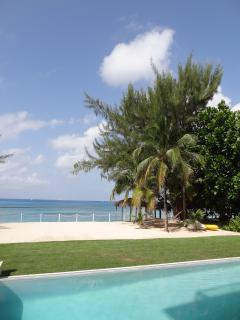 Beach-side pool.