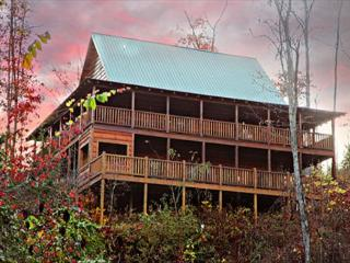 Off the Clock, Vaulted Ceilings, Stacked Fireplace, Wrap-around Porches, Sevierville
