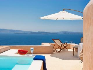 Blue Villas | Galini |Romantic villa, caldera view