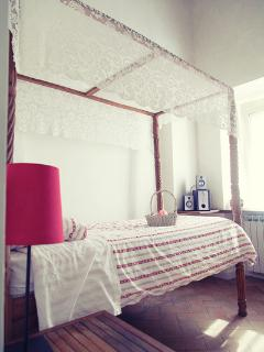 bedroom single canopy bed