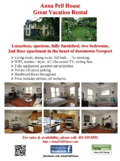 Anna Pell House vacation rental flyer