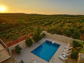 The sunset of the villa