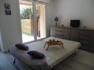 Studio neuf avec jardin privé, piscine et parking, Toulouse