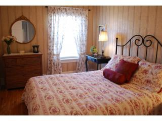 Queen bedroom upstairs with private bathroom