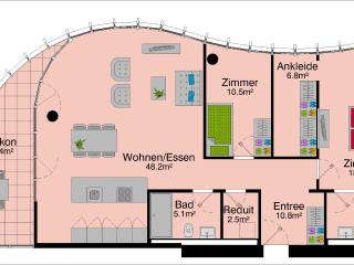 LU Superior Löwendenkmal - Allmend HITrental Apartment, Lucerna