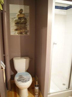Salle de bain avec WC et Douche