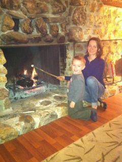 Beautiful Cabin Fireplace!!!