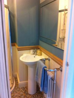 En-suite with shower & heated towel rail (be careful when touching your toes in the morning)