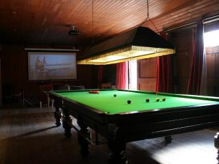 Games room with cinema, snooker table, table tennis & gym