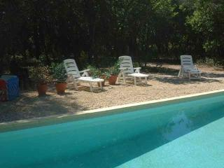 La Pichoune - Pool and large garden - Facing Mt Ventoux and vineyards