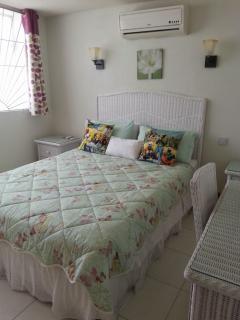 Bedroom has Queen (UK King size) bed