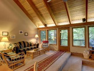 Unique dog-friendly mountain home w/private hot tub & sauna!Only 6 min. to town!