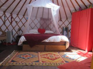 La Yourte : yurt, jacuzzi and garden