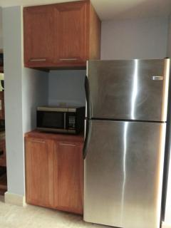Pantry area and fridge