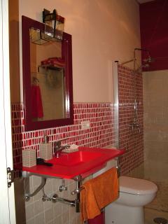 Baño accesible en loft planta baja