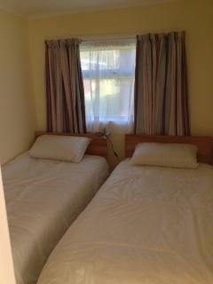 Caswell Bay Chalet Twin Bedroom
