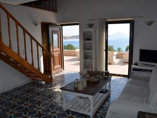 Majestic sea front villa BLU, Halki