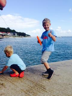 Crabbing on the Slip at Seagrove Bay (5min walk)